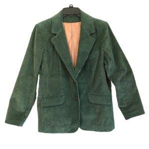 VINTAGE Sears JR Bazaar Green Corduroy Blazer